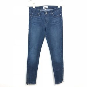PAIGE Skinny Jeans with Zip ankles